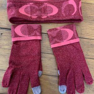Coach gloves and headband